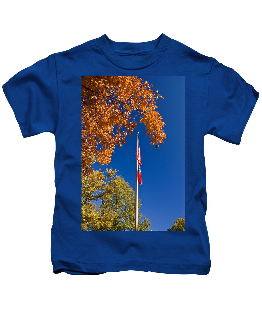 Flag Kids T-Shirt featuring the photograph Autumn Flag by Douglas Barnett