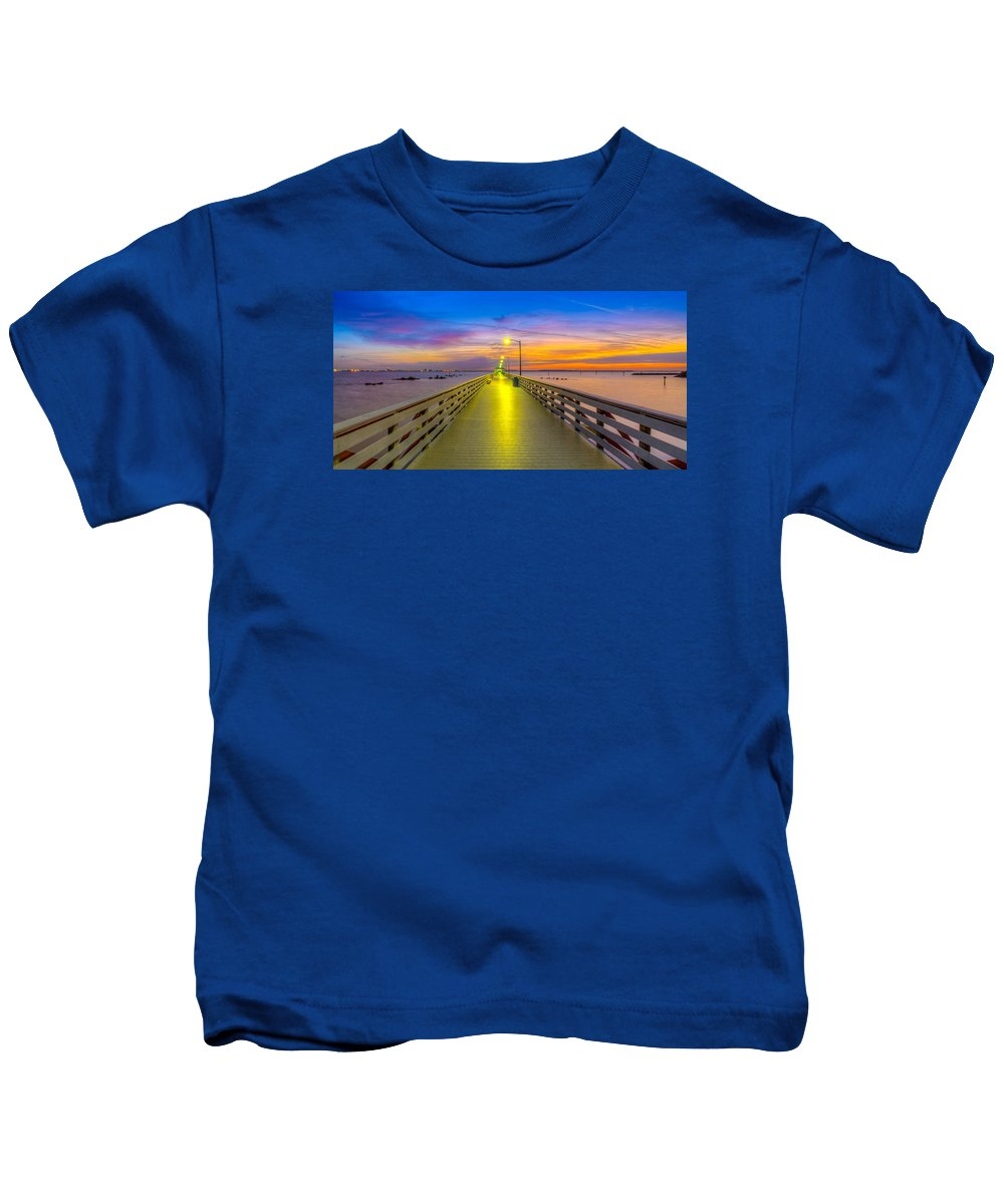 Ballast Point Kids T-Shirt featuring the photograph Ballast Point Sunrise - Tampa, Florida by Lance Raab