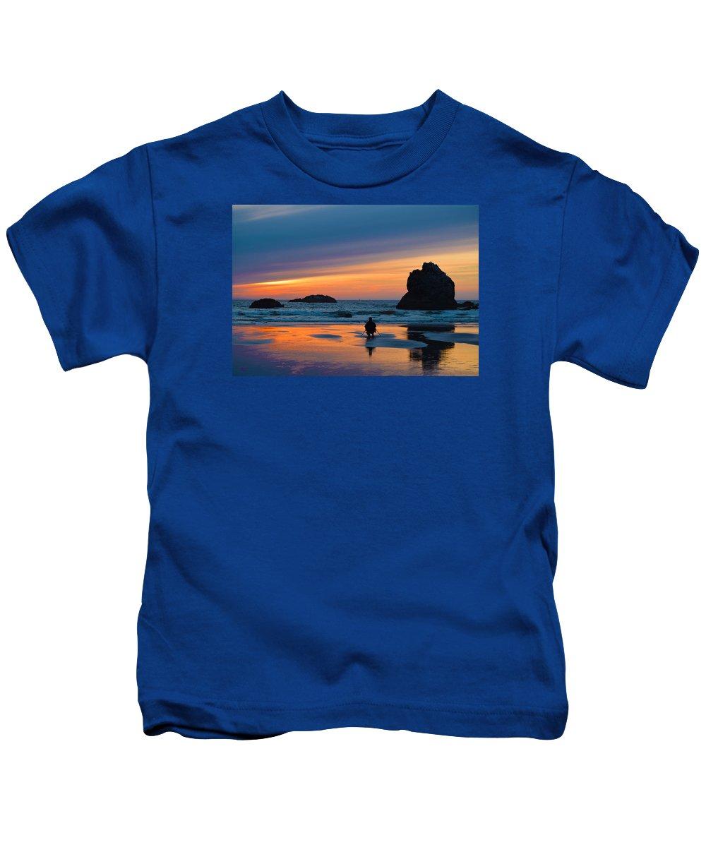 Bandon Kids T-Shirt featuring the photograph Bandon Sunset Photographer by Michele Avanti