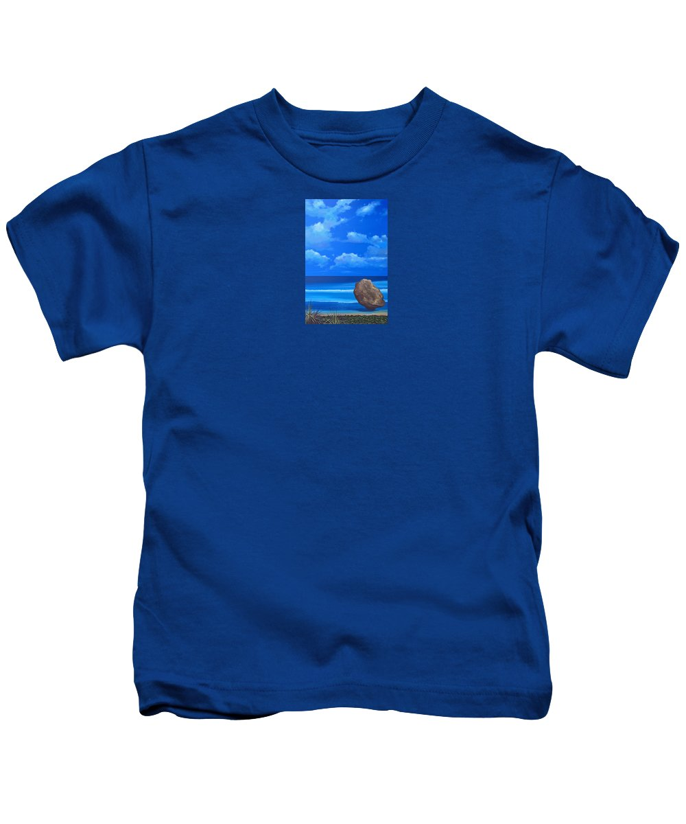 Barbados Kids T-Shirt featuring the painting Bathsheba by Hunter Jay