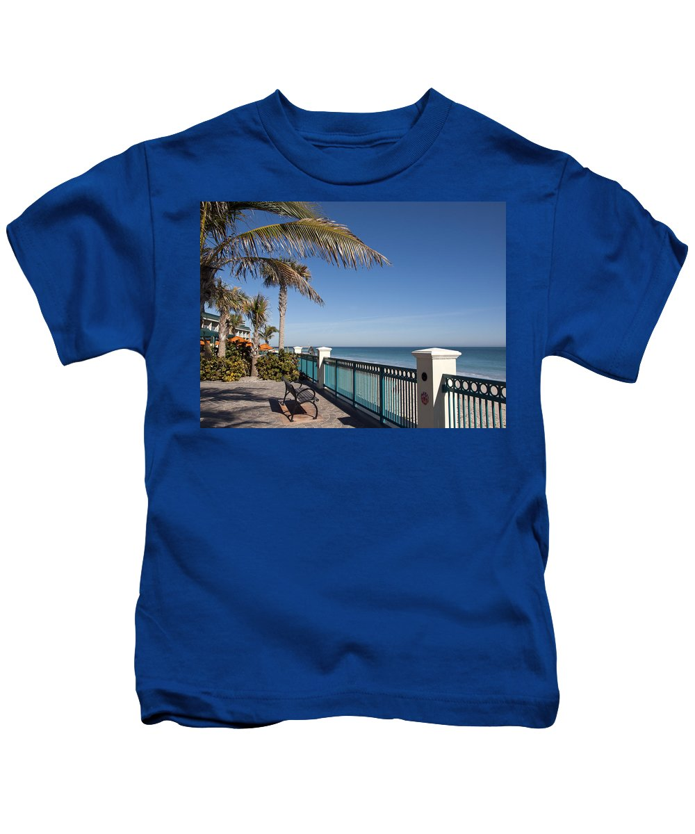 Florida Kids T-Shirt featuring the photograph Beachland Boulevard At Vero Beach In Florida by Allan Hughes