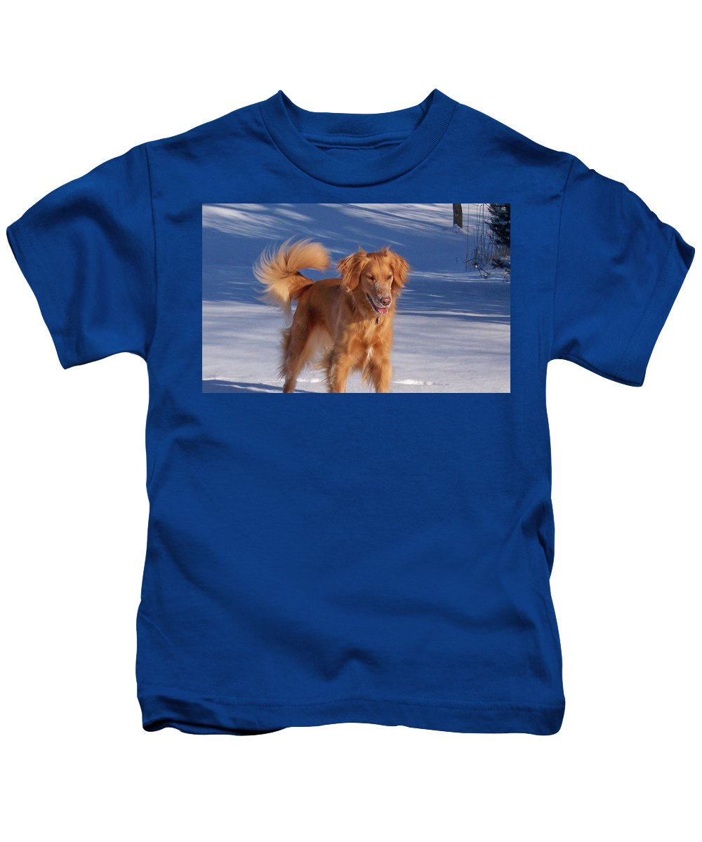 Golden Retriever Kids T-Shirt featuring the photograph Beautiful Belle by Maureen Beaudet