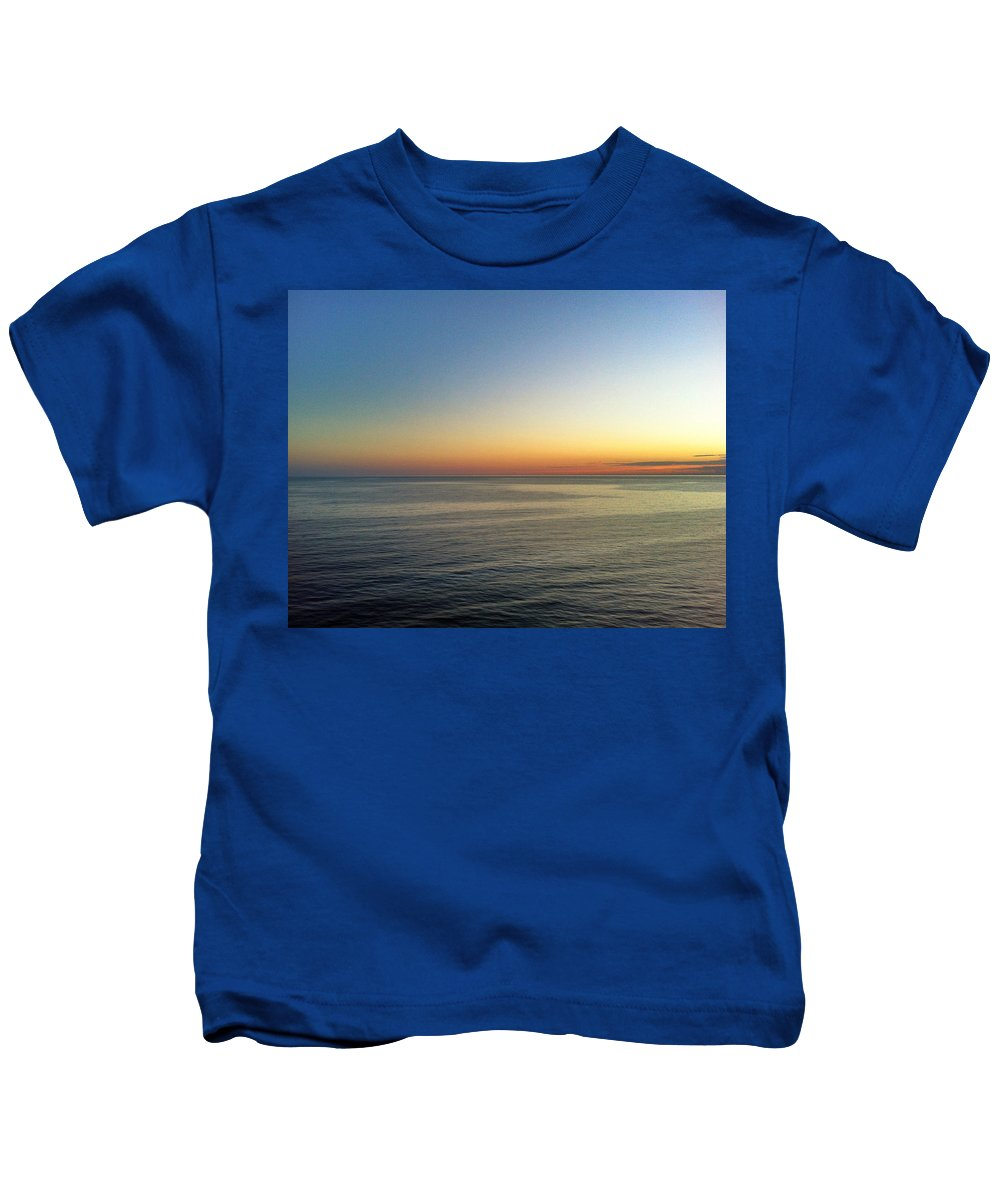 Seascape Kids T-Shirt featuring the photograph Before Dawn by Mikael Sandblom