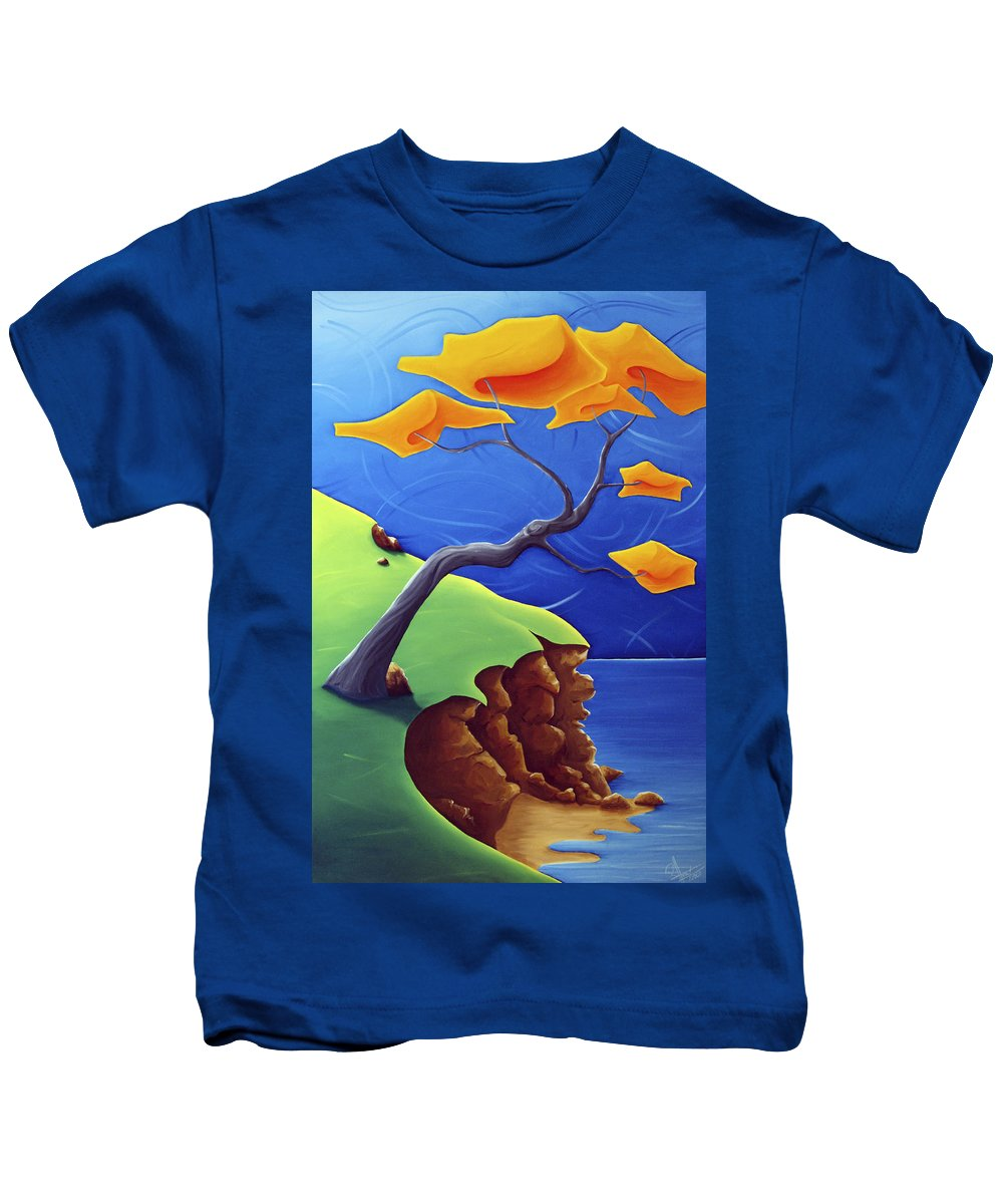 Landscape Kids T-Shirt featuring the painting Beyond Limitations by Richard Hoedl