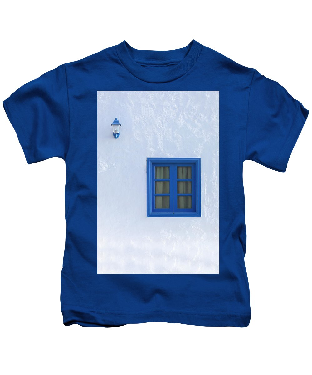 Blue Kids T-Shirt featuring the photograph Blue And White by Joana Kruse