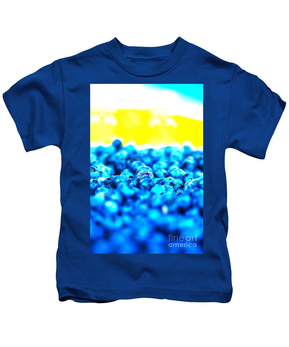 Blue Kids T-Shirt featuring the photograph Blue Blur by Nadine Rippelmeyer
