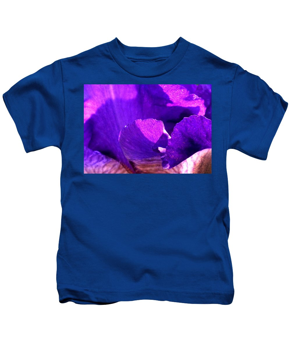 Flower Kids T-Shirt featuring the photograph Blue Close Up by Ian MacDonald
