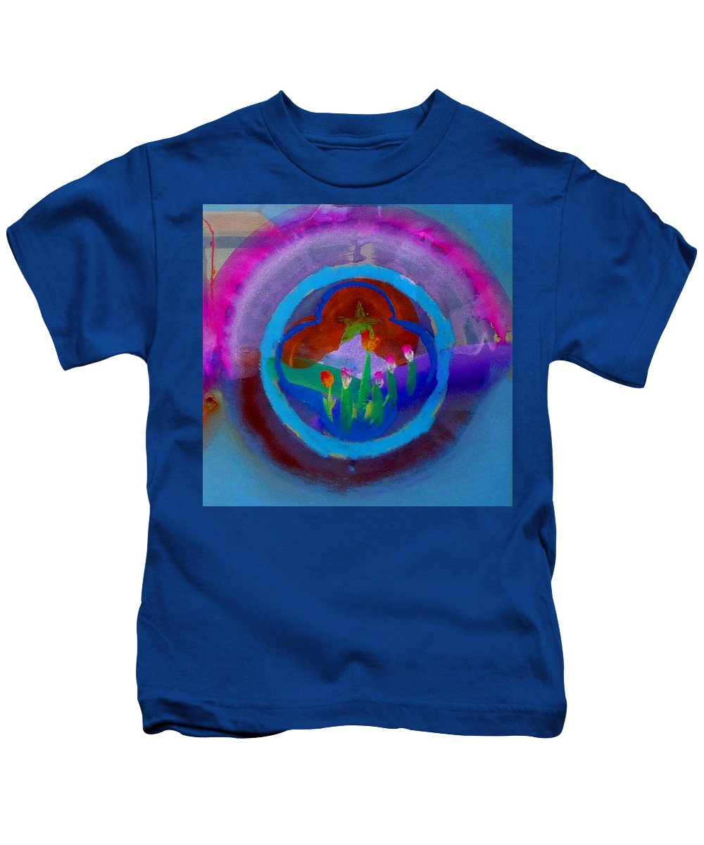 Love Kids T-Shirt featuring the painting Blue Embrace by Charles Stuart
