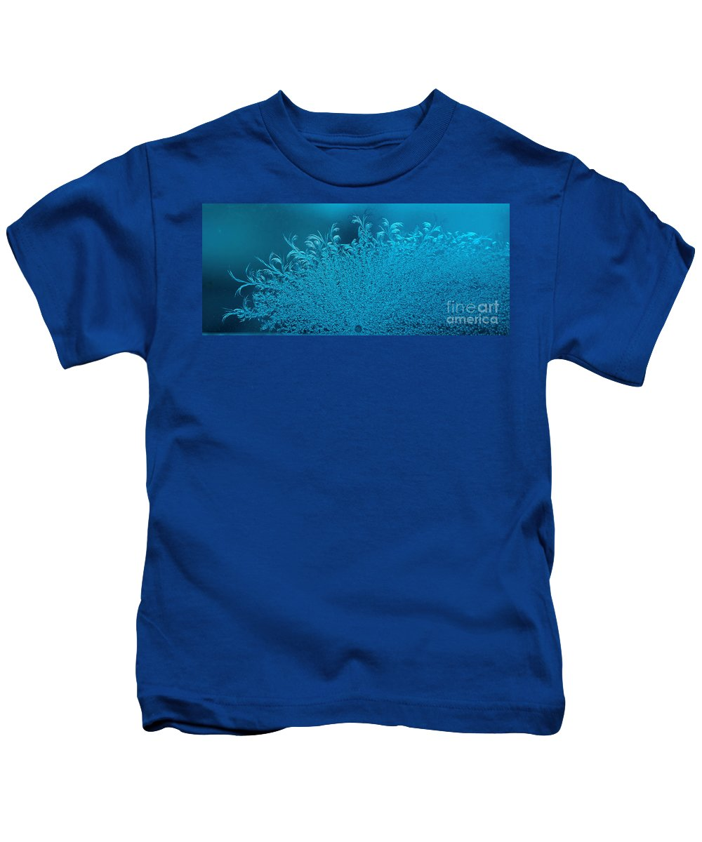 Frost Kids T-Shirt featuring the photograph Blue Frost by Elaine Berger