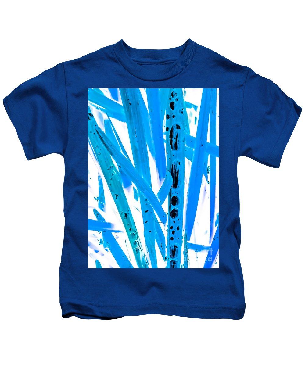 Blue Kids T-Shirt featuring the photograph Blue Grass by Heather Joyce Morrill