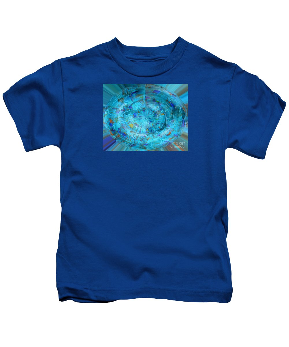 Blue Kids T-Shirt featuring the photograph Blue Oval by Nareeta Martin