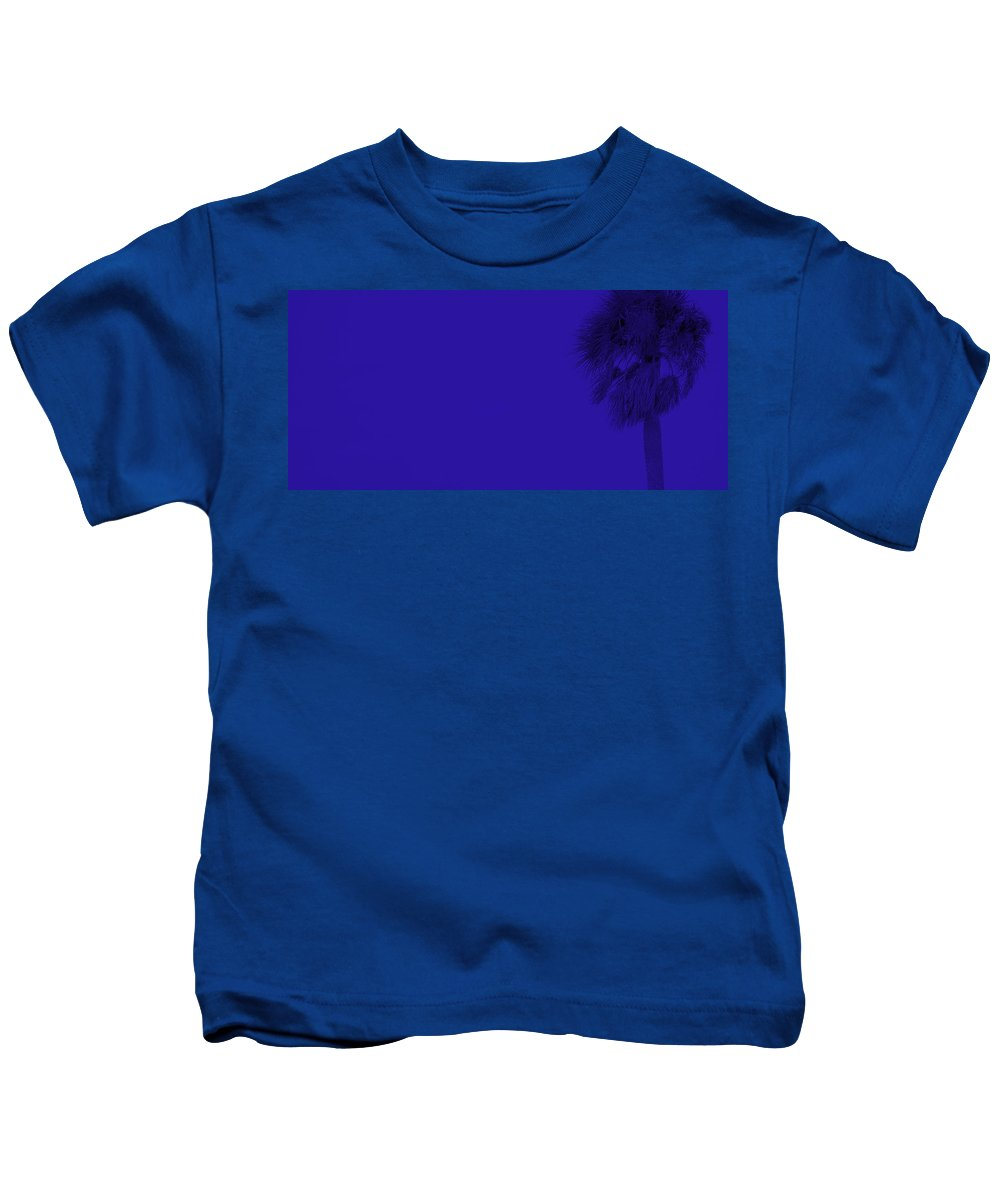 Landscape Kids T-Shirt featuring the photograph Blue Palm by Ed Smith