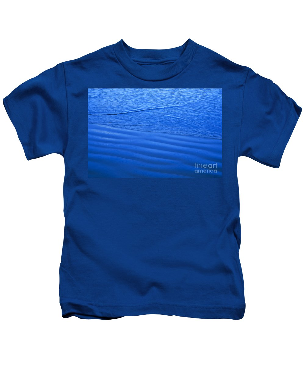 Alongside Kids T-Shirt featuring the photograph Blue Water And Shore by Dana Edmunds - Printscapes