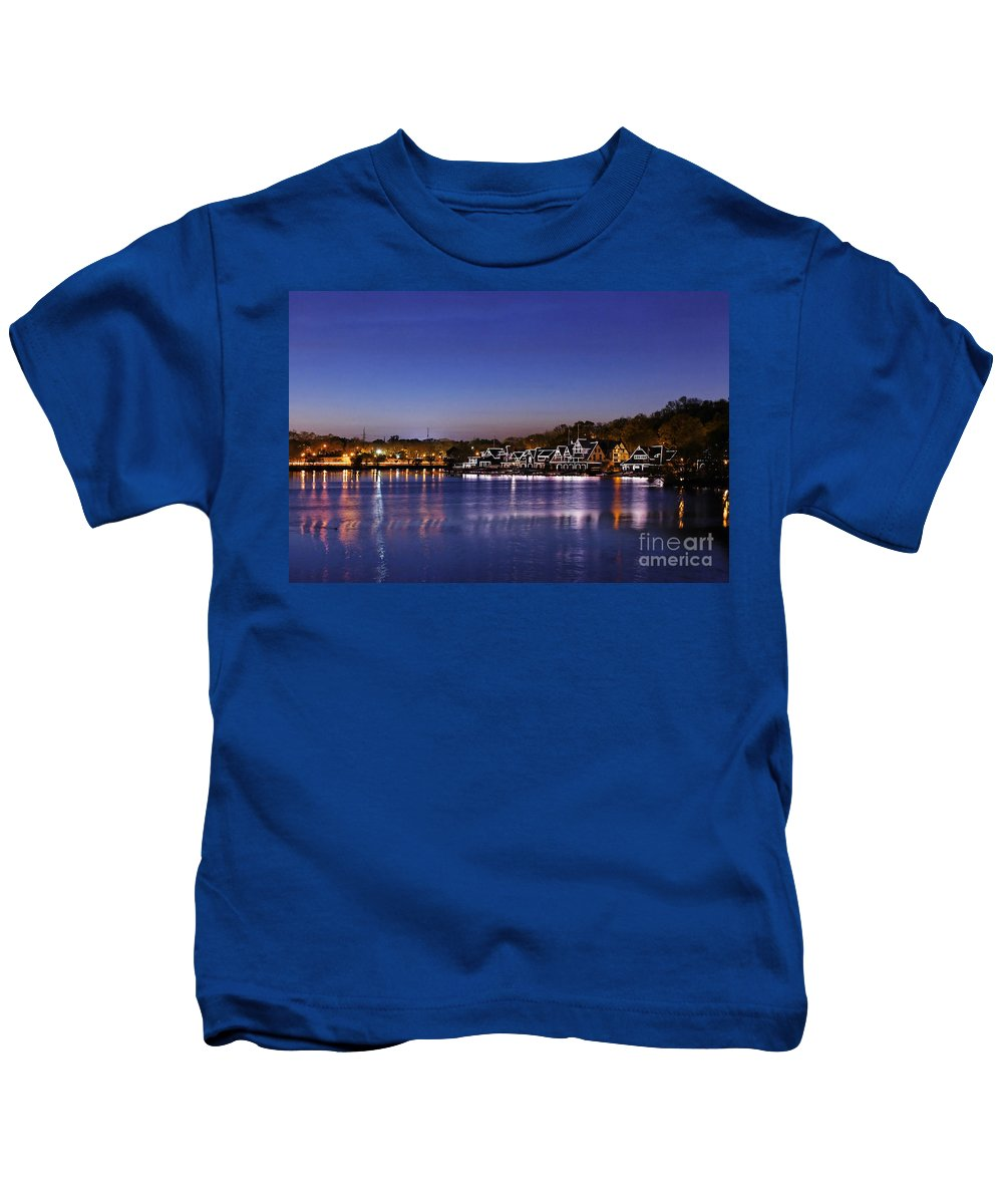 Philadelphia Kids T-Shirt featuring the photograph Boathouse Row Philly by John Greim
