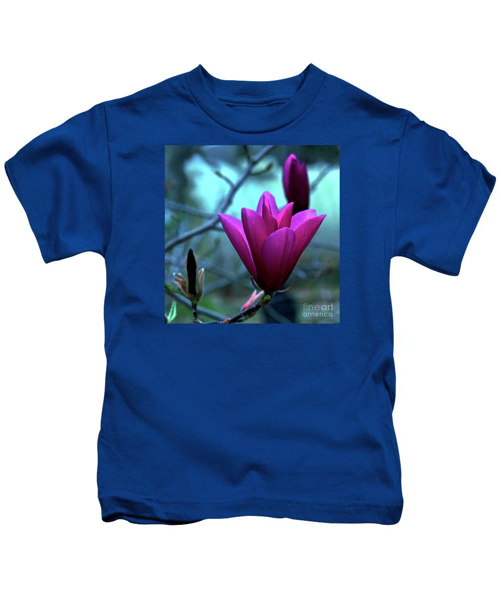 Magnolia Photography Kids T-Shirt featuring the photograph Bold Delicacy by Patricia Griffin Brett