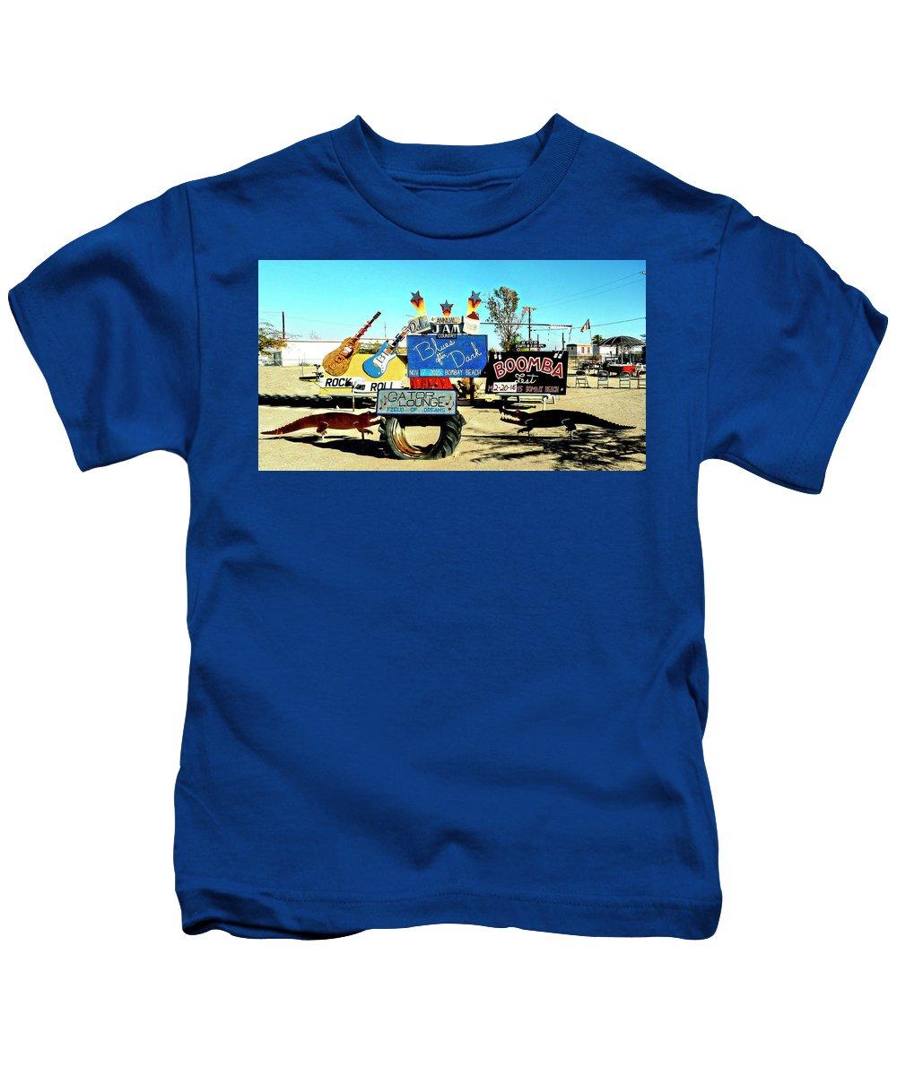 Rebecca Dru Kids T-Shirt featuring the photograph Bombay Beach by Rebecca Dru