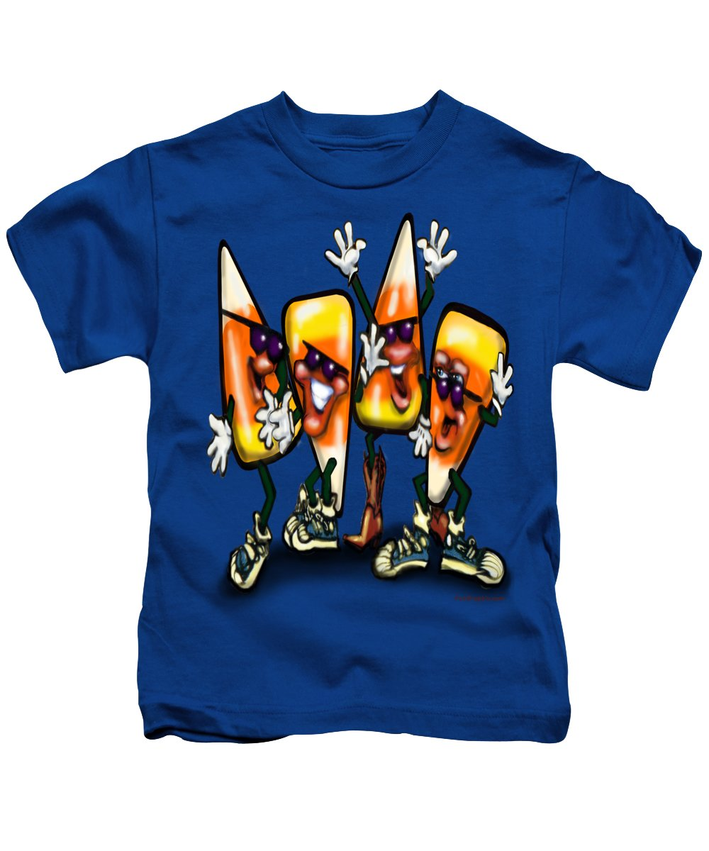 Candy Kids T-Shirt featuring the digital art Candy Corn Gang by Kevin Middleton