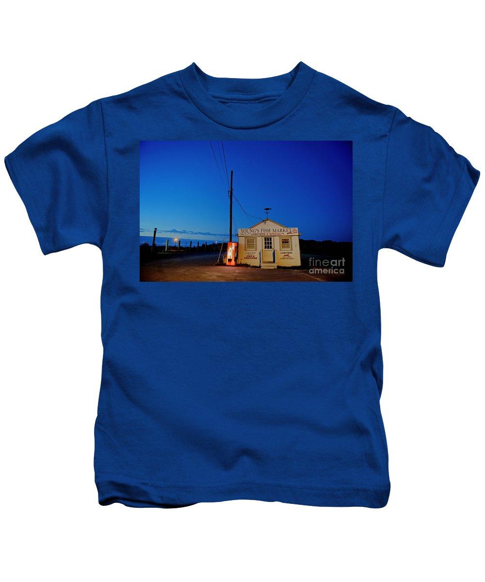 Fish Market Kids T-Shirt featuring the photograph Cape Cod Fish Market by John Greim
