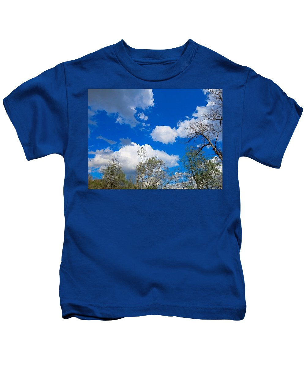 Spring Kids T-Shirt featuring the photograph Carolina Blue Sky After The Rain by Betty Buller Whitehead