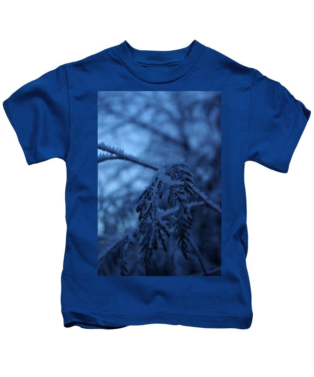 Cedar Kids T-Shirt featuring the photograph Cedars Of Ice II by Cindy Johnston