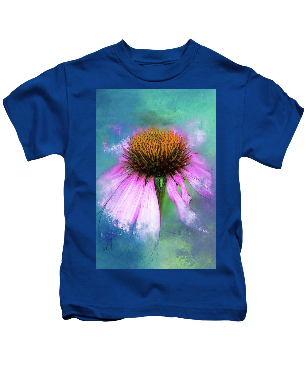 This Image Was Photographed In The Garden. Kids T-Shirt featuring the photograph Cheerful. by Lyn Darlington