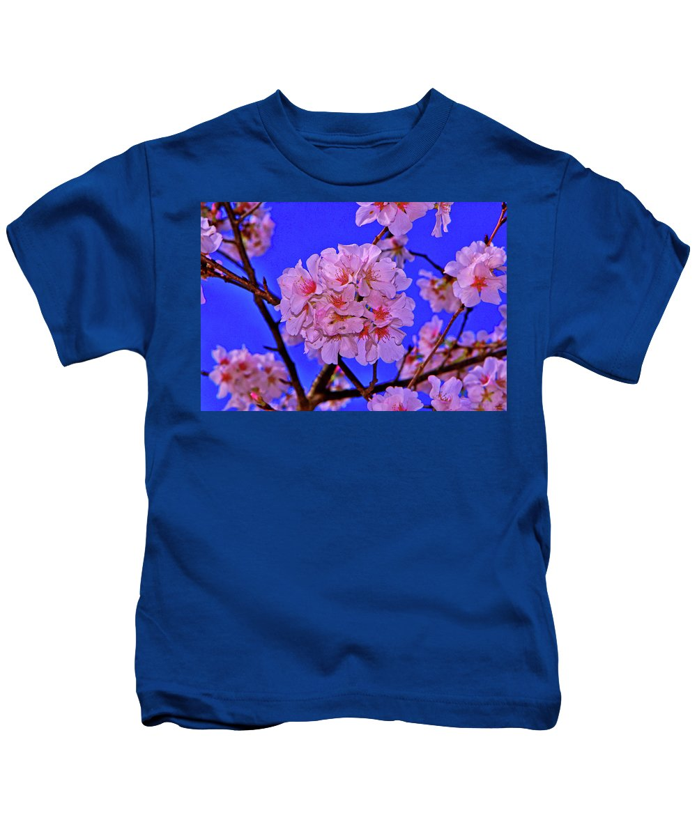 Tree Kids T-Shirt featuring the photograph Cherry Blossoms 004 by George Bostian