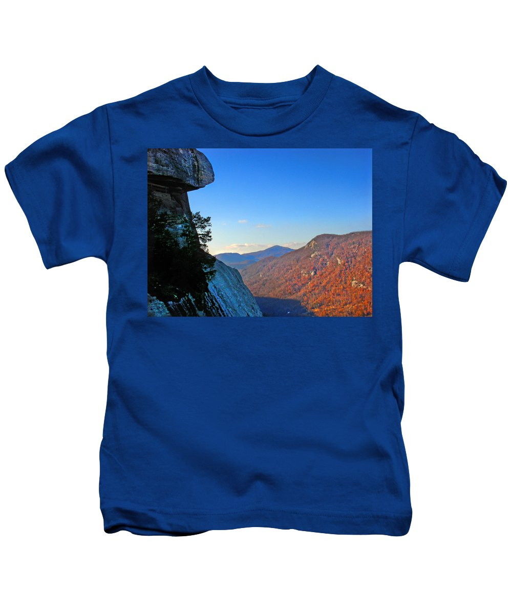 Landscape Kids T-Shirt featuring the photograph Chimney Rock 2 by Steve Karol