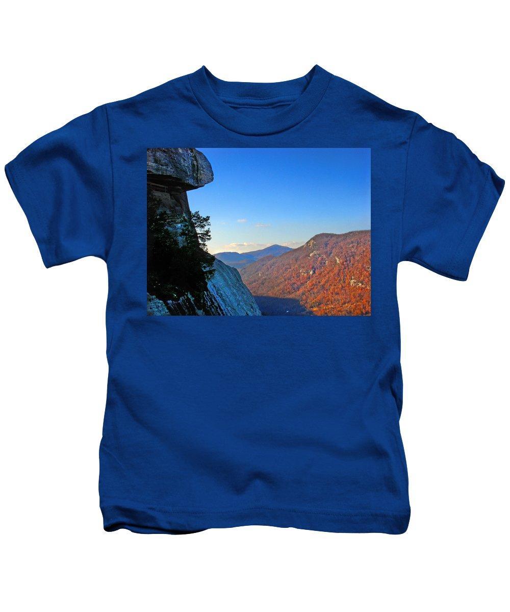 Landscape Kids T-Shirt featuring the photograph Chimney Rock 2 by Steve Karol