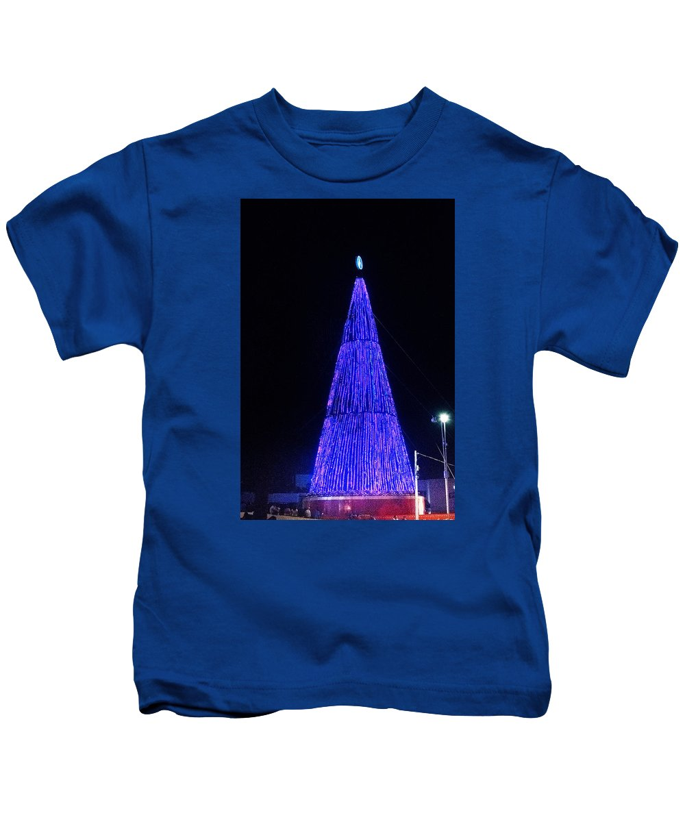 Christmas Tree Kids T-Shirt featuring the photograph Christmas Tree San Salvador 2 by Totto Ponce