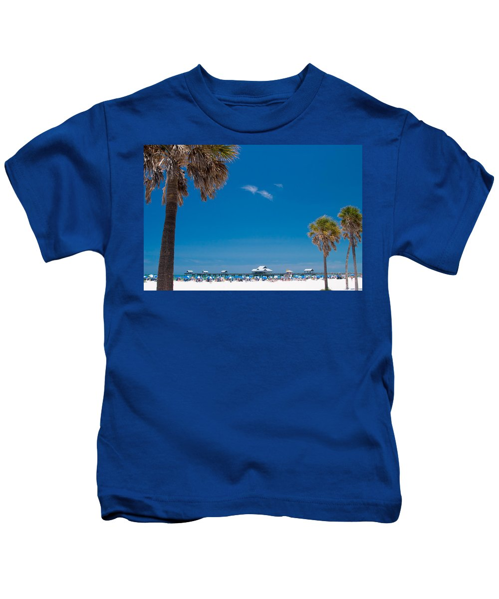 3scape Kids T-Shirt featuring the photograph Clearwater Beach by Adam Romanowicz