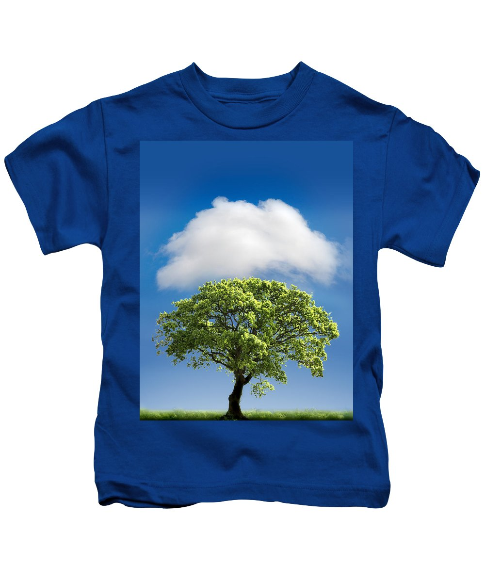 Tree Kids T-Shirt featuring the photograph Cloud Cover by Mal Bray