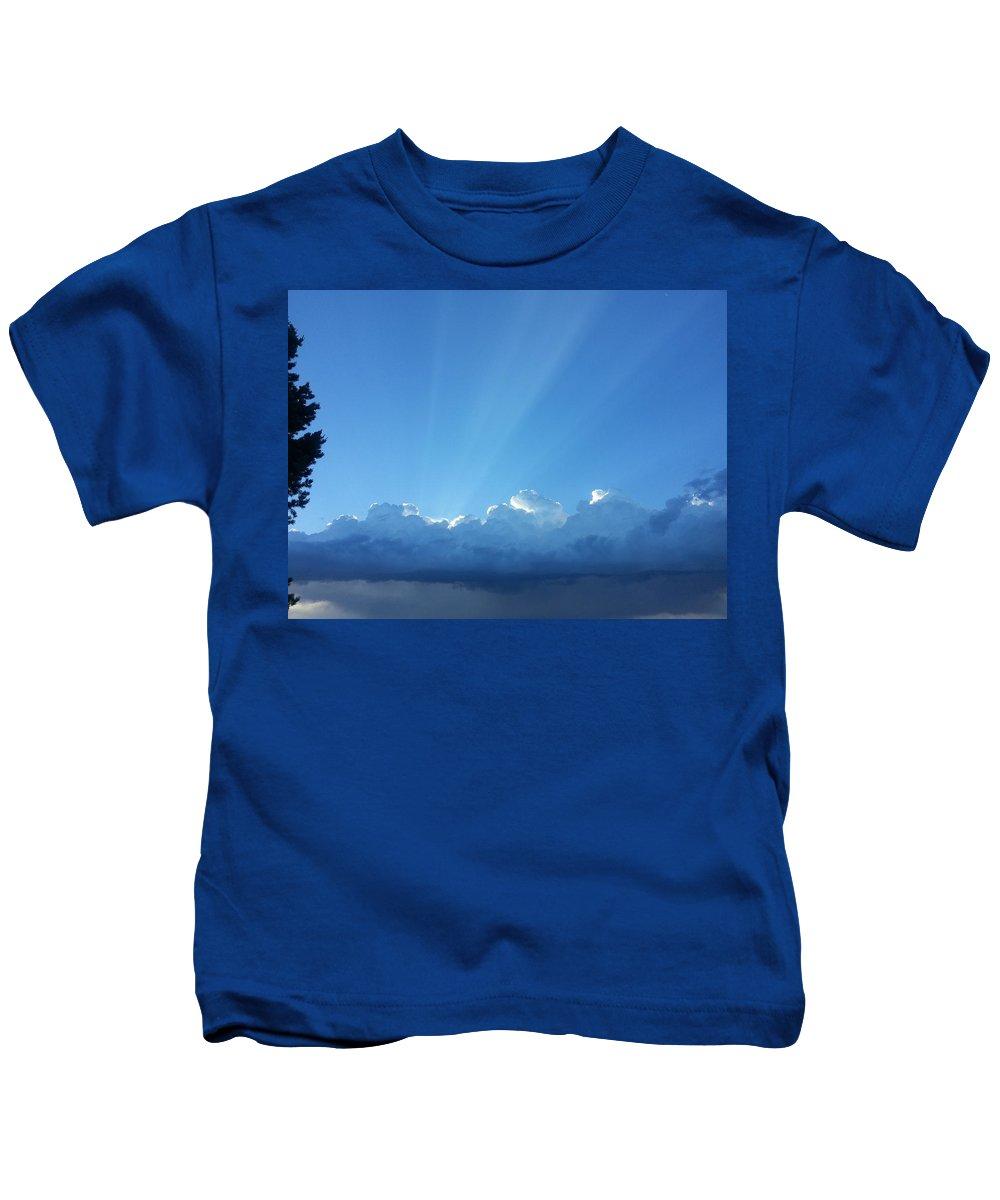 Kids T-Shirt featuring the photograph Clouds Of Clovis by Chris Shepherd