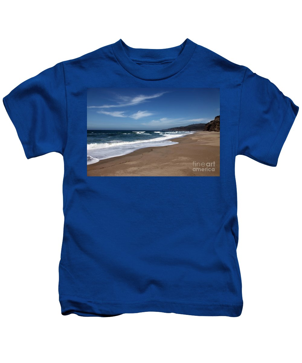 images Of California Kids T-Shirt featuring the photograph Coast Line by Amanda Barcon