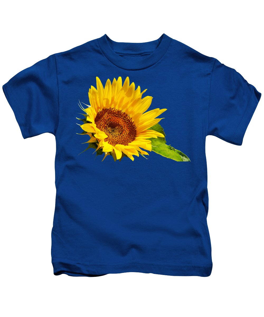 Sunflower Kids T-Shirt featuring the photograph Color Me Happy Sunflower by Christina Rollo