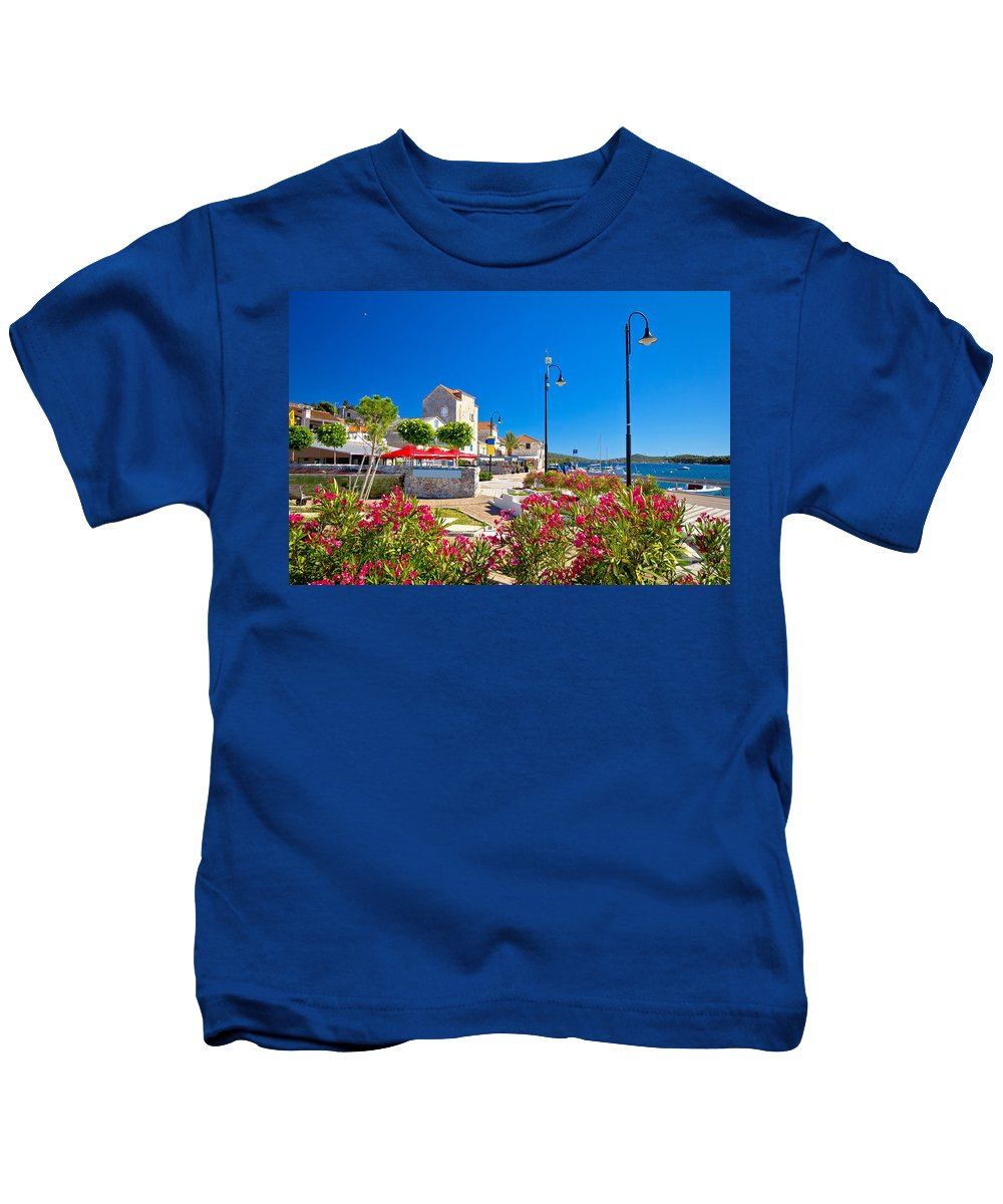 Rogoznica Kids T-Shirt featuring the photograph Colorful Adriatic Town Of Rogoznica by Brch Photography