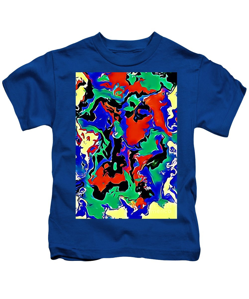Art Kids T-Shirt featuring the digital art Colours Of Joy by Vinod Menaria