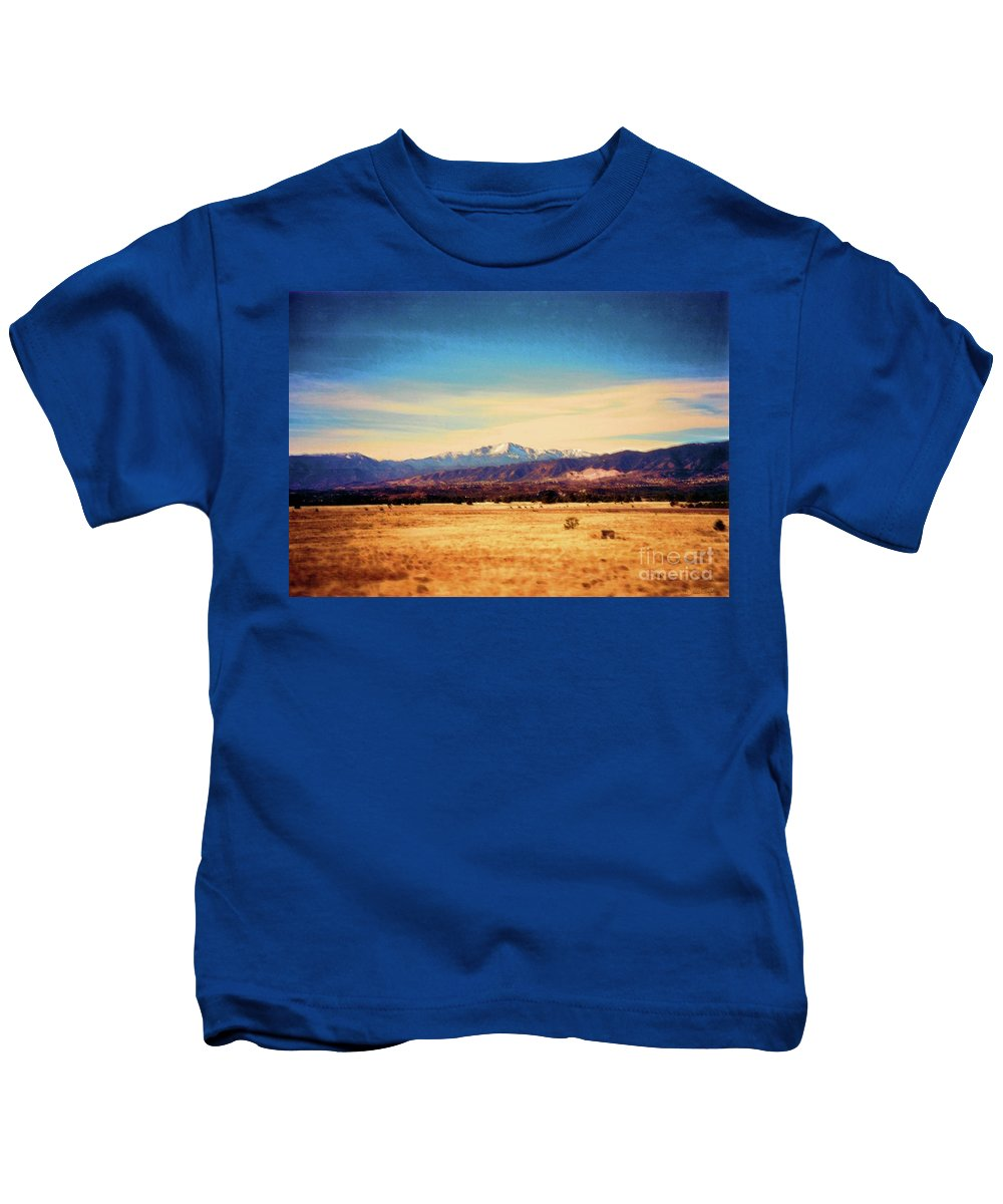 Colorado Kids T-Shirt featuring the mixed media Colowyo 2 by Desiree Paquette