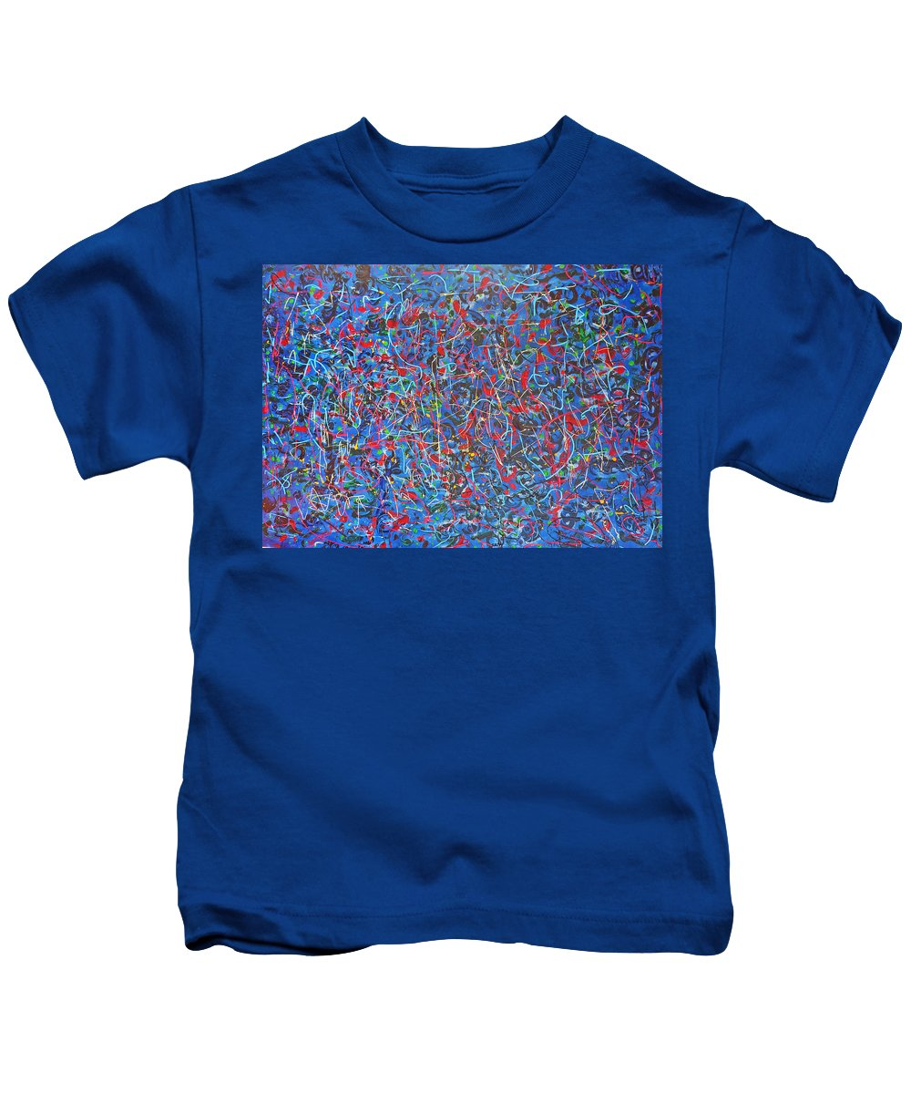 Abstract Kids T-Shirt featuring the painting Confetti by Ericka Herazo