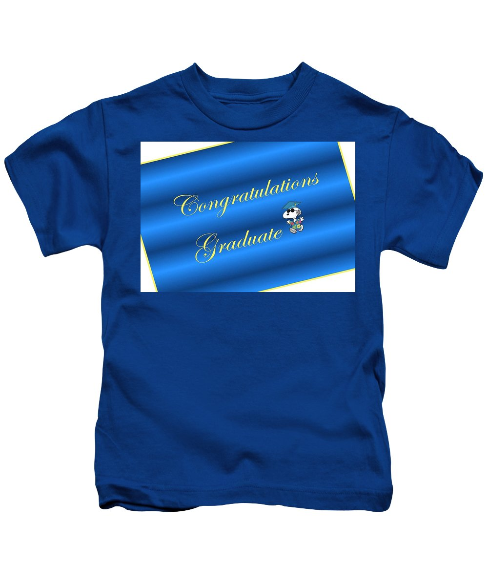 Congratulations Kids T-Shirt featuring the digital art Congratulaitons Graduate by Giselle Norville