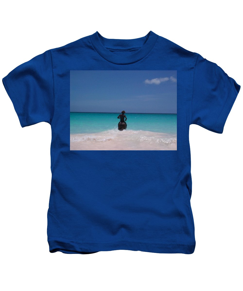 Charity Kids T-Shirt featuring the photograph Cool Off Man by Mary-Lee Sanders