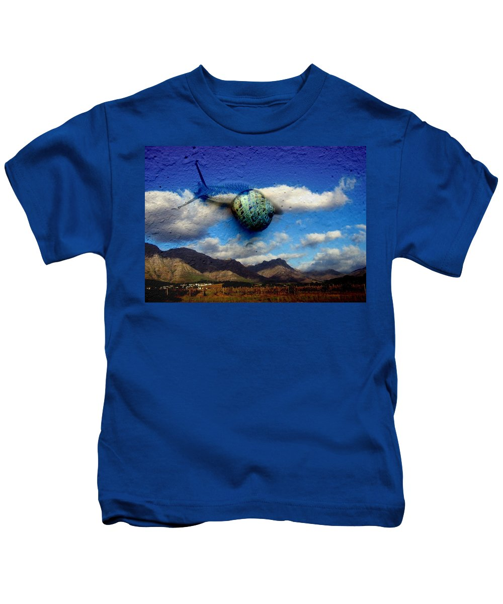 Country Kids T-Shirt featuring the photograph Country Snail by Derick Burke