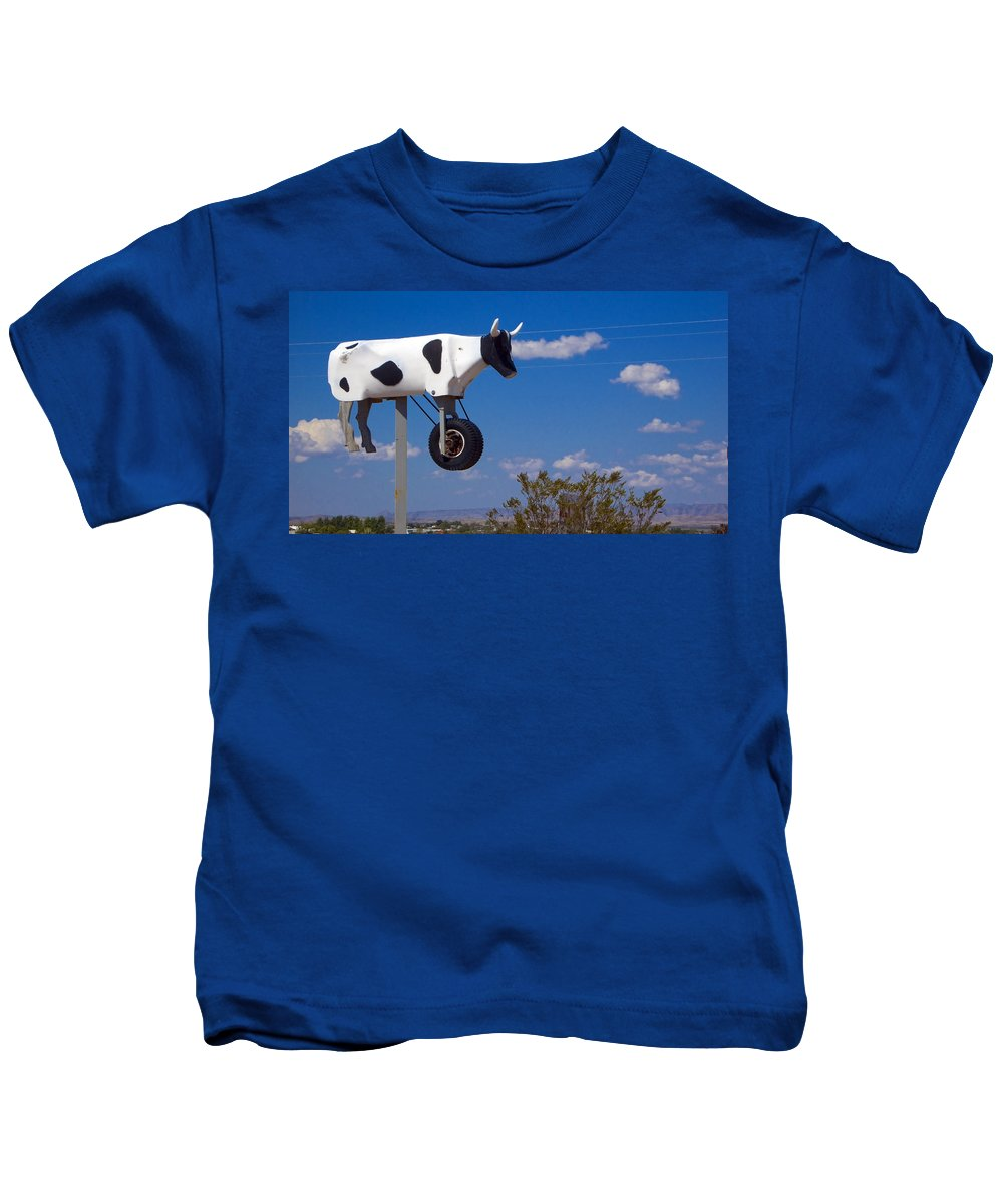 Cow Kids T-Shirt featuring the photograph Cow Power by Skip Hunt