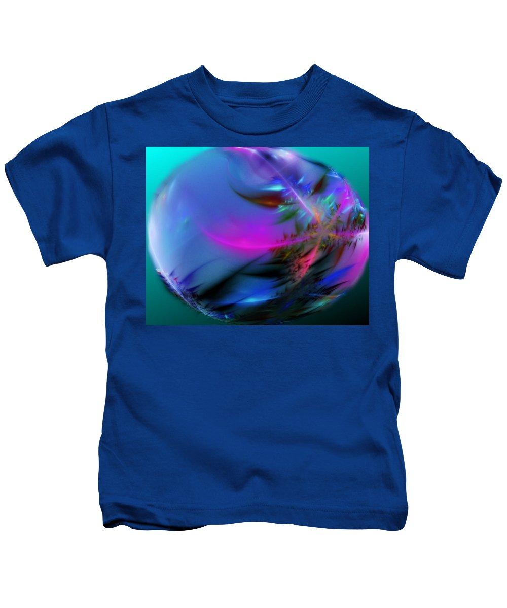 Digital Painting Kids T-Shirt featuring the digital art Crystal Egg by David Lane