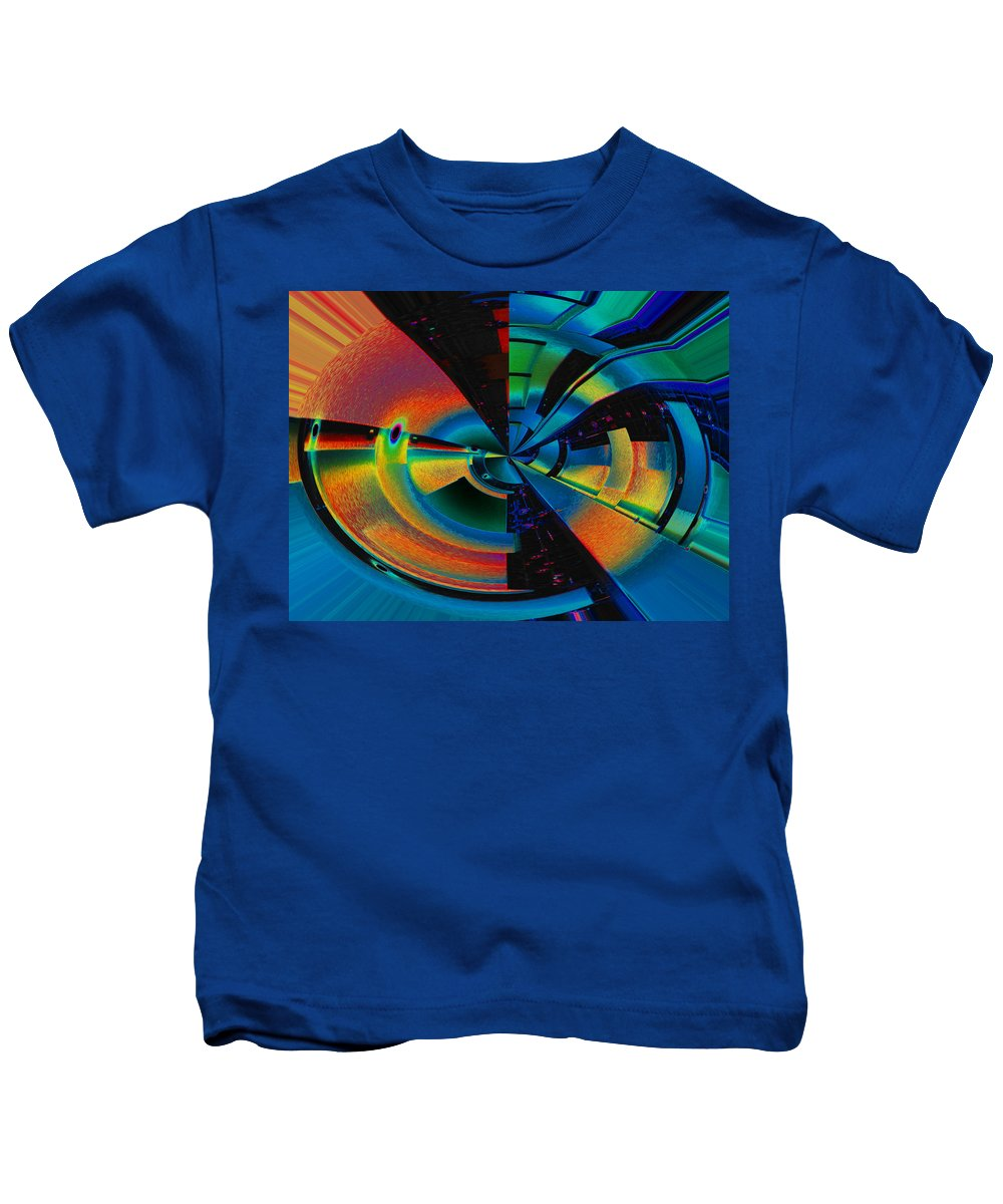 Abstract Kids T-Shirt featuring the photograph Cyborg by Mykel Davis