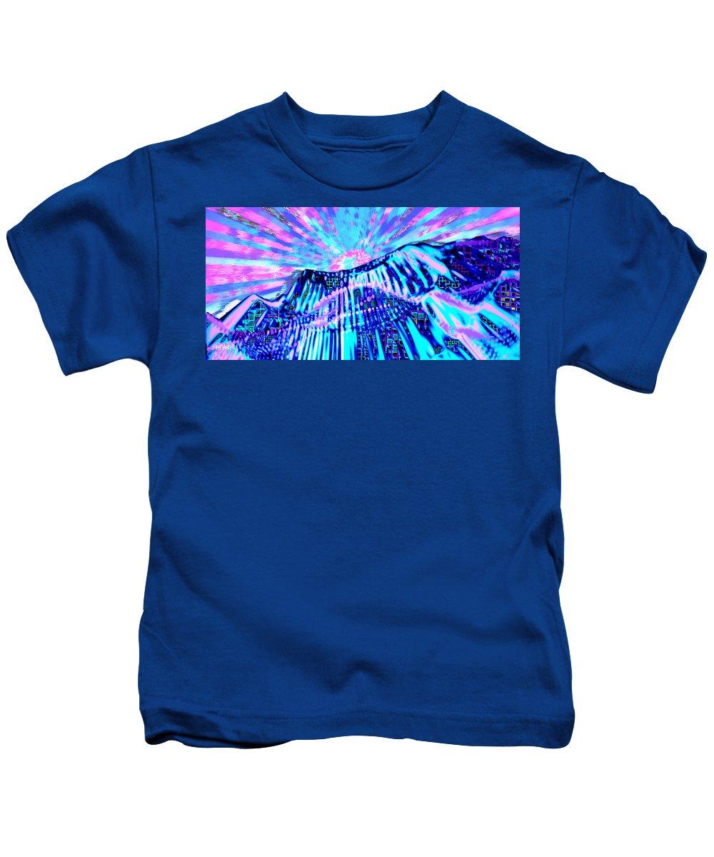 Aurora Borealis Kids T-Shirt featuring the digital art Dancing Sky by Seth Weaver