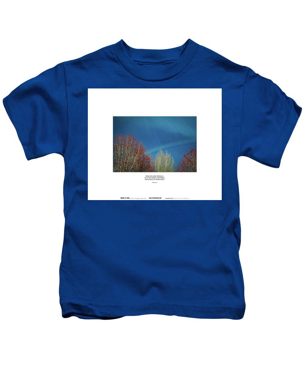 #things Not Seen Kids T-Shirt featuring the photograph Dare To Love by Anka Wong