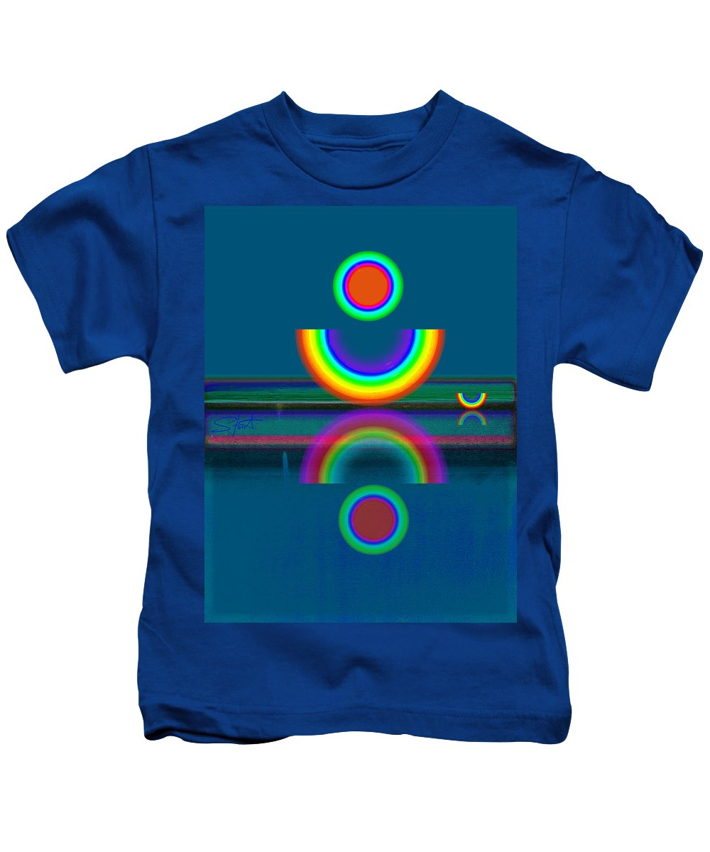 Reflections Kids T-Shirt featuring the painting Dark Mirror by Charles Stuart