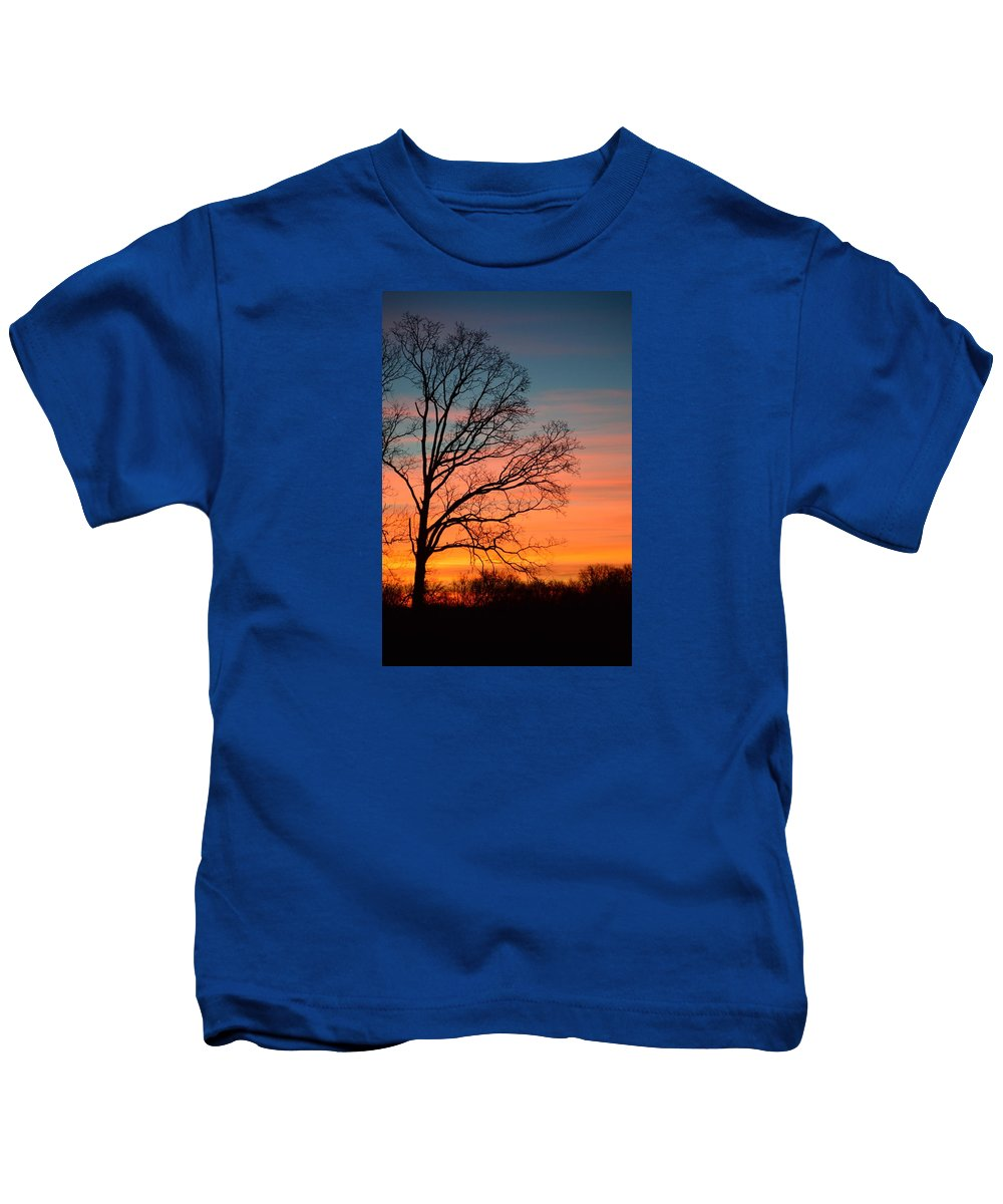 Photograph Kids T-Shirt featuring the photograph Dawn Has Cracked by J R Seymour