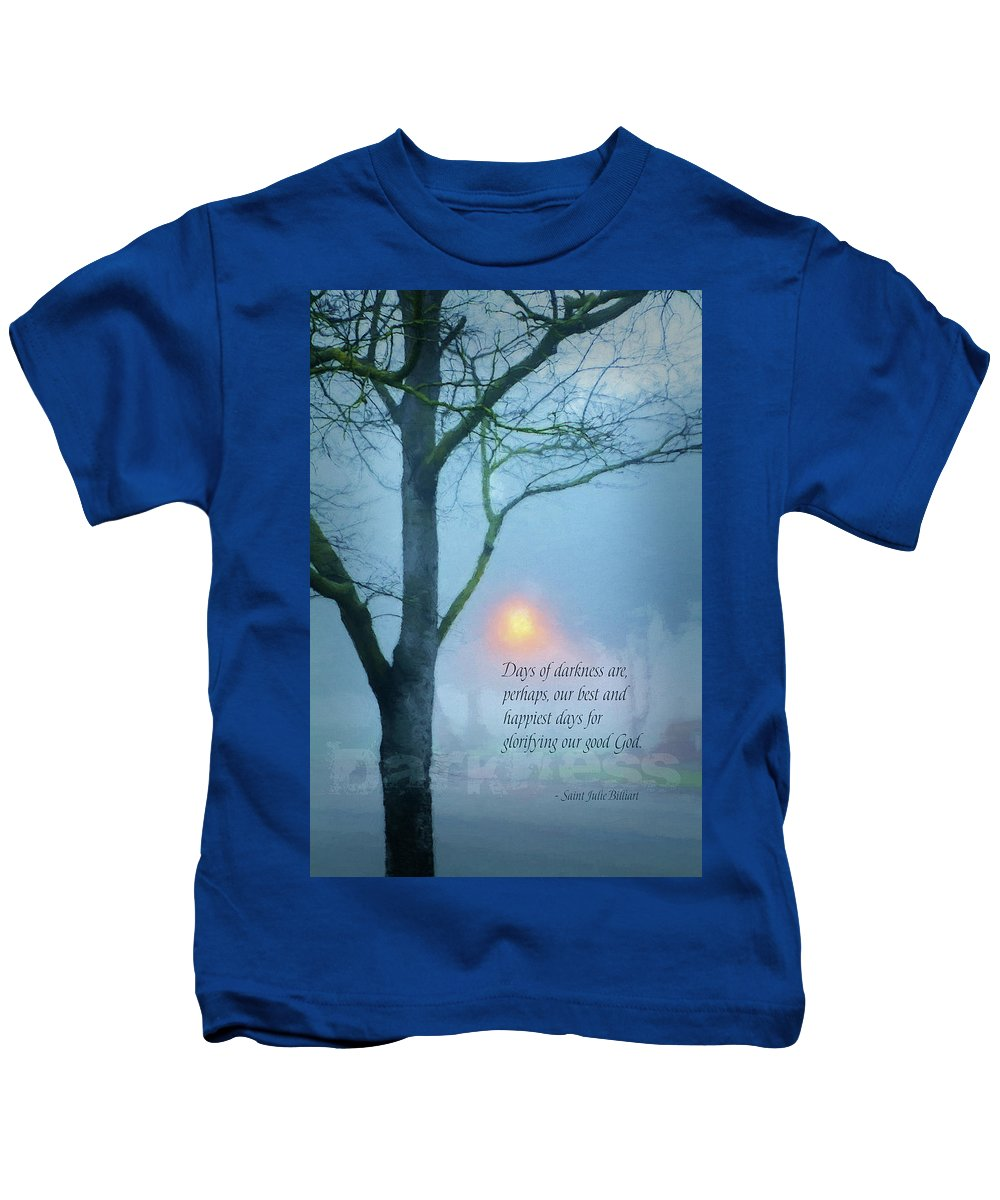 Photography Kids T-Shirt featuring the digital art Days Of Darkness by Terry Davis