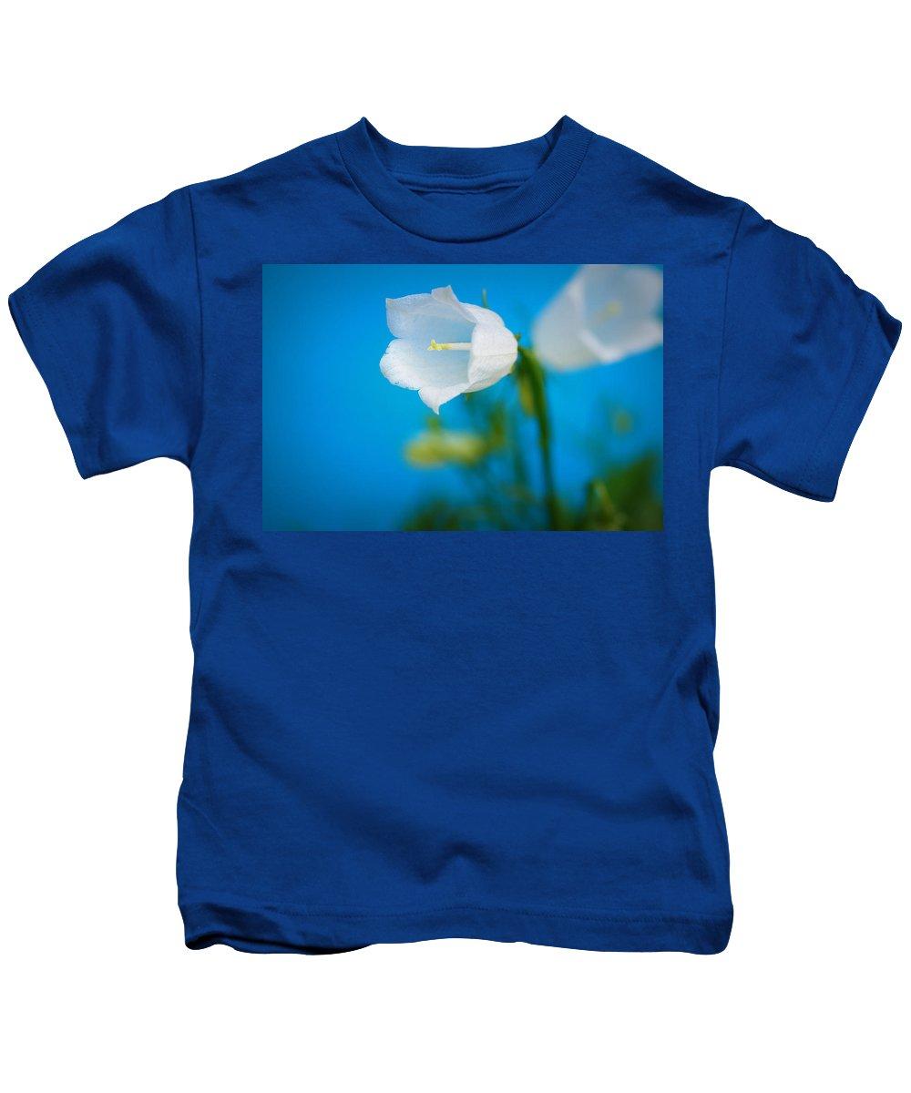 Bell Kids T-Shirt featuring the photograph Delicate Bells by Lisa Knechtel